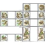 Gibraltar 955ZW-961ZW parejas con papel en medio (completa.edición.) 2001 serpientes (sellos para los coleccionistas)
