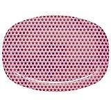 Rice Melamin Tablett Servierteller rosa mit Sternen MELPL-STARG