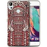 Coque de Stuff4 / Coque pour HTC Desire 10 Pro / éléphant-Rouge Design / Motif Animaux Aztec Collection