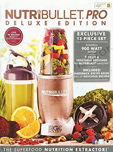 NUTRiBULLET Pro Deluxe Edition 900W 13-teiliges Set Mixer