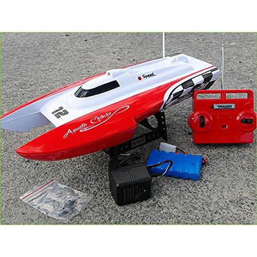 Melko RC Speedboot 40CM Katamaran Rennboot Rot Schiff Boat SCHNELLBOOT ferngesteuert