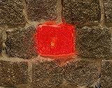 Wisdom LED-Plastersteinleuchte, 5x5,5cm, rot leuchtende Lichtsteine, Leuchtstein, Pflastersteine.