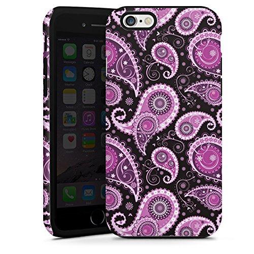 Apple iPhone 5s Housse étui coque protection Ornements Motif Paisley Lilas Cas Tough terne
