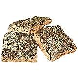 Korkrinde Korkstücke, 15 x 15 cm (3 Stück) (Naturkork, Zierkork) – ideal für Haustiere (Nager + Vögel) oder Basteln & Hobby (Modellbau), unbehandelte Rinde von der Korkeiche, flach