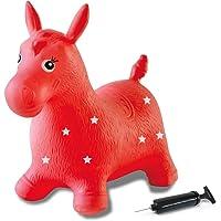 Jamara- Cavallo Animale Cavalcabile, Colore Rosso, 460317
