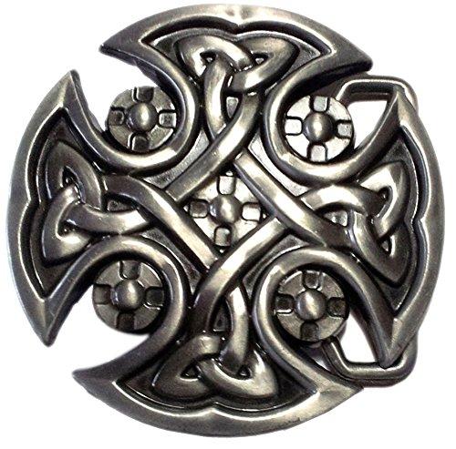 Buckle Kelten- Cross with Tribal, Celtic Knot