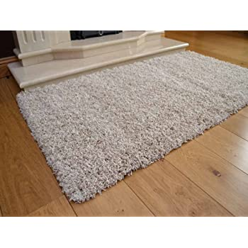 Available in 7 Sizes Soft Touch Shaggy Taupe Thick Luxurious Soft 5cm Dense Pile Rug 66cm x 230cm