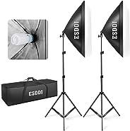 Esddi 50,8x 17,4cm Soft Box fotoğraf aydınlatma Kit 800W sürekli aydınlatma System foto stüdyo ekipmanı foto model Portrai