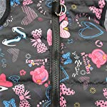Doggie Style Store Black Heart Bow Dog Pet Puppy Puffer Warm Winter Padded Quilted Vest Coat Jacket Size XS 7