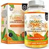 Organic Turmeric Curcumin & Black Pepper 600mg | Highest Potency Available | 120