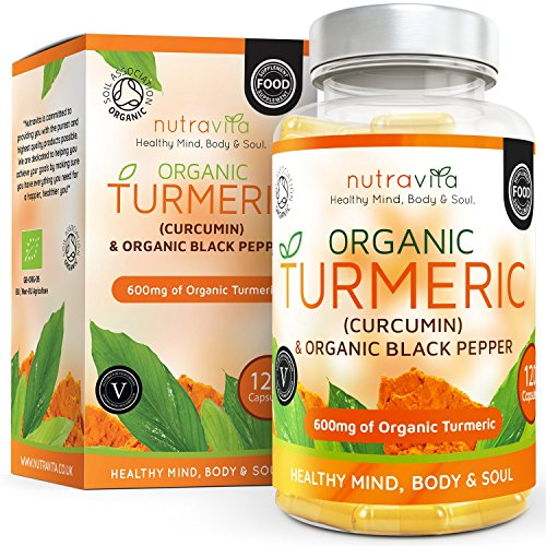 Organic Turmeric Curcumin & Black Pepper 600mg | Highest Potency Available | 120 Clear Veg Capsules (Suitable For Vegetarians) | SOIL ASSOCIATION Organic Certified & Made in the UK by Nutravita Test