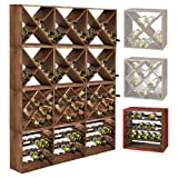 Cantinetta / scaffale per vino / sistema CUBE 50, legno massiccio, modulo standard - a 50 x l 50 x p 25 cm