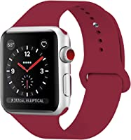 HILIMNY Correa Apple Watch 38MM 42MM, Suave Silicona iWatch Correa, Para Series 3, Series 2, Series 1, Nike+, Edition,...