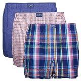 Polo Ralph Lauren Herren Boxershorts, 3er Pack (XXL, Mehrfarbig (3Pk Blue/Orange/Blue))