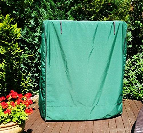 Strandkorb Schutzhülle Multifunktions Haube Wetterschutz Grösse L mit Seiten Eingriff Grün