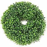 Kranz Buchsbaum Ø 25 cm grün Dekokranz Kunstgrün Türkranz Buchskranz