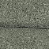 Stoffe Werning Frottee Uni einfarbig grau Bademantelstoff