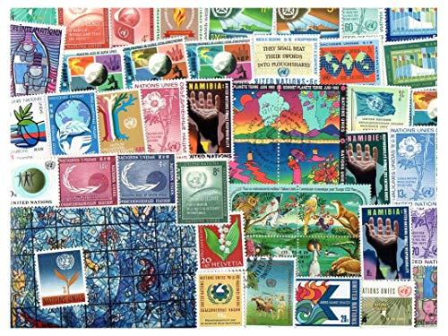 Pghstamps nazioni unite onu 500 francobolli differenti collezione per collezionisti