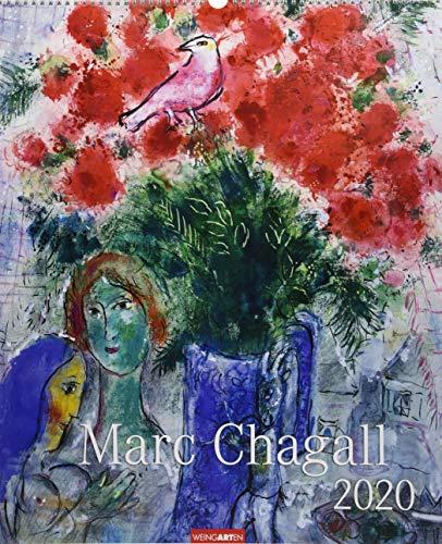 Marc Chagall. Wandkalender 2020. Monatskalendarium. Spiralbindung. Format 46 x 55 cm