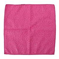 Guoyy Microfiber Dishcloth Square Kitchen Washing Cleaning Towel Dish Cloth Wiping Rag (Hot Pink)