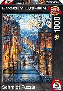 Schmidt Spiele Puzzle 59560-Puzzle Evgeny lushpin, 1000Piezas, Primavera Mañana en Mont Marte