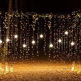 Lichterkette Kupferdraht, Sunix LED Lichterkette, 10x 2Meter 200 LED Sternklar Lichterketten Warmweiß Beleuchtung Dekoration für Weihnachten