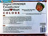 Stendker Frostfutter Sparpaket 10 x GoodHeart Colour Diskusfutter/Rinderherz 500g Flachtafel/für farbenprächtige Diskusfische