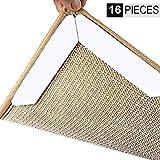 Inwee Antirutschmatte Teppich Greifer, 16 PCS Starke Klebrigkeit Waschbar, Nicht Beleg und Erneuerbar Teppichgreifer, Idealer Rutschschutz für Teppich