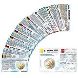 11 Münzkarten ohne Münze (7 Länder) von 2006 für 2-Euro Gedenkmünzen Größe ca. 86 x 54 mm, Karton ca. 350g/m²