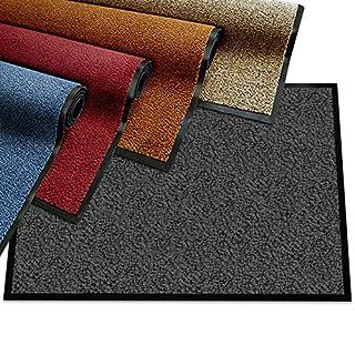 etm® Schmutzfangmatte - Note 1,6: Sieger Preis-Leistung - Fußmatte in vielen Größen - Türmatte Fußabstreifer für Haustür innen und außen (Rot-Schwarz, 135x200 cm)