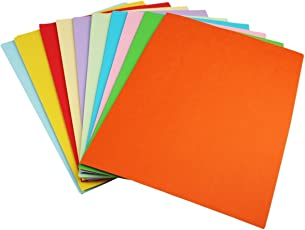 Sinar A4 Multi-Colour Paper Photocopy, Art and Craft, 250 Sheets, 10 Colour, 80GSM (Assorted Colours, SNR78415)