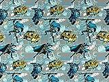 Baumwolljersey Batman Comic, Meterware ab 0,5