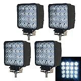 VINGO® 4X 48W LED Scheinwerfer Flutlicht Rückfahrscheinwerfer IP67 Wasserdicht Arbeitsscheinwerfer 12V 24V in