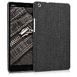 kwmobile Housse hardcase rigide en tissu pour Huawei MediaPad M3 Lite 8 - Cover Case en Design Tissu gris foncé