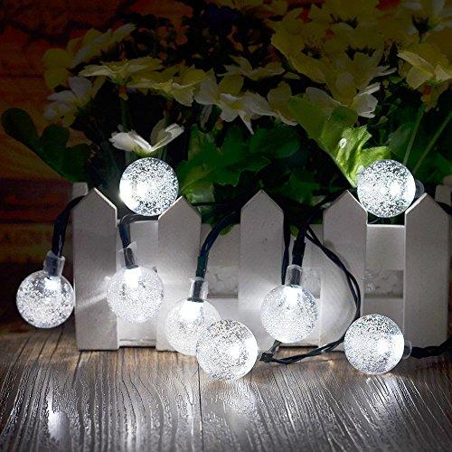 Solar Lichterkette Durchsichtig Kugel Lights Christmas