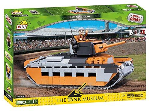 COBI 2495 Spielzeug Konstruktionsspielzeug-Panzer, Grau, Braun, Schwartz -