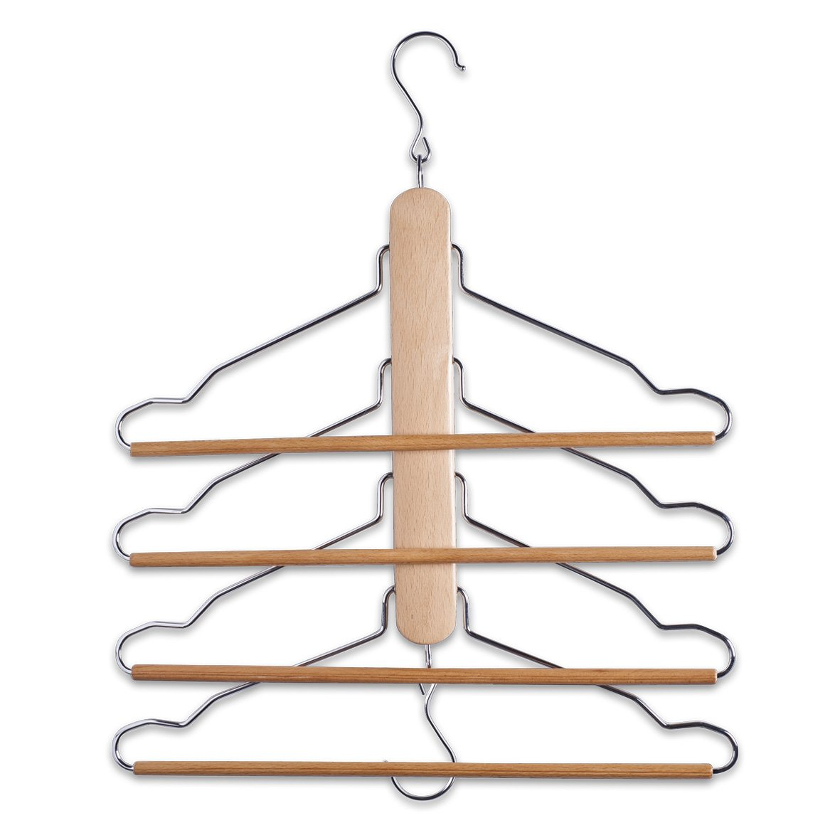 Zeller Clothes Hanger, Wood, Multi-Colour, 40 x 41 cm: Amazon.co.uk:  Kitchen & Home
