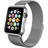 Apple Watch Bracelet, avec le Fermoir Magnétique Unique, Swees 42mm Strap Acier Inoxydable Band pour Apple Watch Série 2 (2016) / Série 1, de Aucune Boucle nécessaires (Argent)