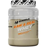Bigmuscles Nutrition Raw & Real Organic Whey Protein [1kg] - Natural, 80% Protein, Additive Free, Unflavored, 24g…