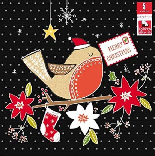 confezione-da-5-red-robin-bambini-con-cancro-biglietti-di-natale-xmas-card-packs