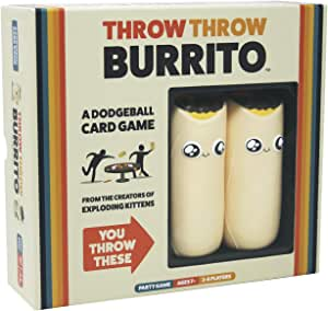 Throw Throw Burrito dai creatori di Exploding Kittens - A Dodgeball Card Game - Family-Friendly Party Games - Card Games for Adults, Teens & Kids - (Edizione Inglese)