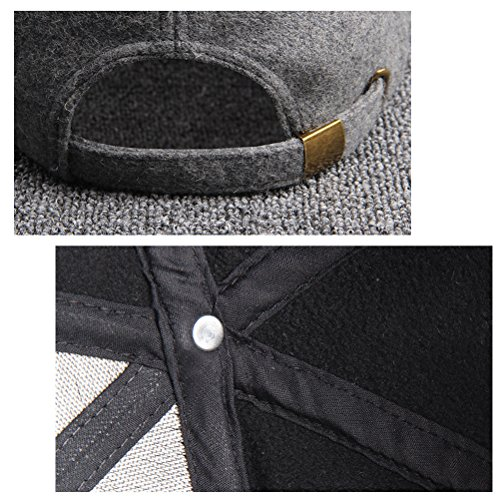 Zhhlaixing Adjustable Outdoor Sport Cap Unisex Winter Warm Baseball Des chapeaux 16028 Light Gray