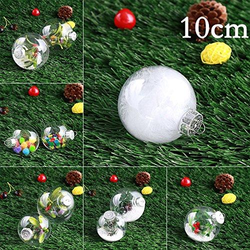 ststoff Weihnachtsbaum Ball Party klar transparent Hainging Dekoration Dekor Ornament Kinder Kinder Geschenke (Ausfüllbare Ornamente)
