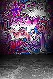 Daniu Hip Hop Background photo Graffiti Style Photography Backdrops For Studio Props Vinyl 5x7FT Daniu-dn030