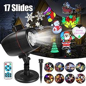 Proiettore Luci Natale Esterno, InnooLight Proiettore Natale con 17 diapositive a tema colorato, IP65 Impermeabile… 16 spesavip