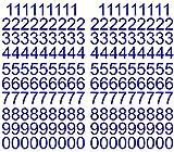 180 Klebezahlen je 18 mal 1 - 0 je ca. 3cm hoch, in 7 verschiedenen Farben lieferbar (3cm blau)