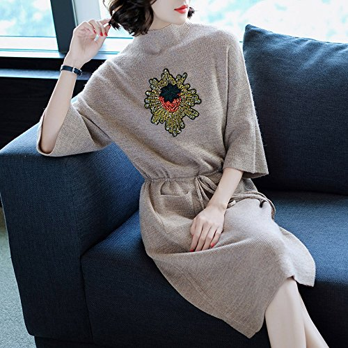 GX Winter - Couture/Slim Stricken Kleid/Krawatte einen Langen Absatz Pullover Kleid Basis,Pink,S,