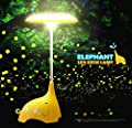 Rechargeable Children Night Light?KEEDA® Cute Elephant LED Desk Lamp Table Lamps?Touch Sensor Control Bedroom Lamps, 3 Levels of Dimmable Brightness Book Light, Baby Lamp Baby Nightlight