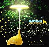 KEEDA LED Schreibtisch Lampe, Elefant, Wiederaufladbare Nachtlicht/Nachtlichter Dimmbar, Leuchten für Kinder, Touch Tabelle Lampe, Tischlampe Licht/Tischleuchte, Leselampe/Leselicht, Buchlampe, Augenpflege, Faltbar, Dimmbar Touchsensor mit 3 Helligkeitsstufen, Wiederaufladbar mit USB Kabel,Faltbar (Gelb)
