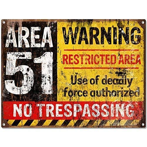 Froy Area 51 No Trespassing Military Placas de Metal de la decoración del Vintage de la artesanía para Cafe Bar Garaje Inicio